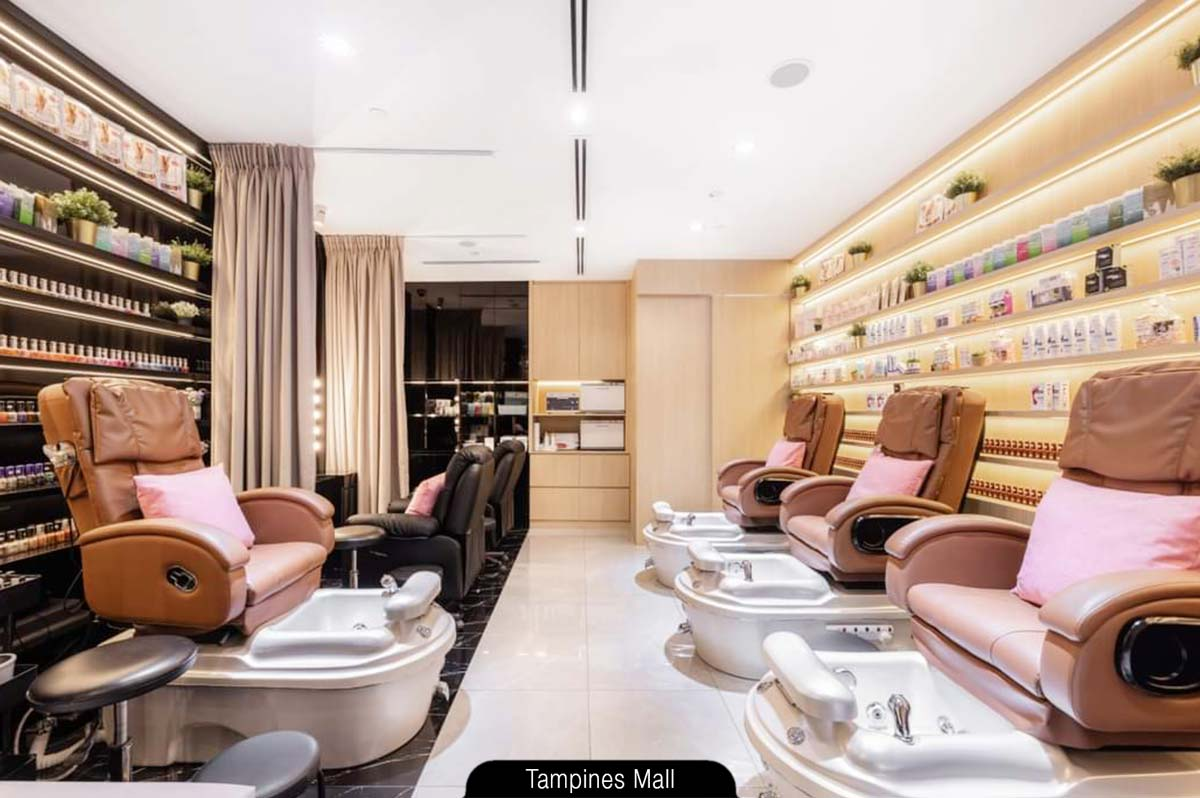 Serene and spacious lounge (manicure, pedicure) - N20 Nail Spa at Tampines Mall