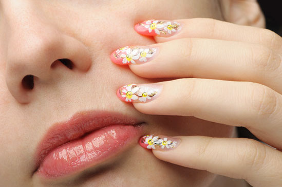 nail art, french manicure, glitter gel, fanciful, nail enhancement service