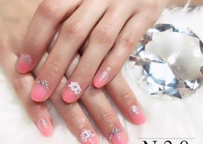 3D Flowers Glitters Nail Art: Sexy Petite Pastel Manicure