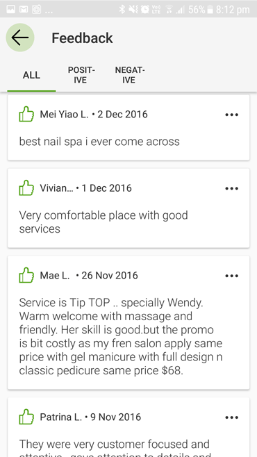 Customers review N20 nail salon - Best nail spa. Service is tip top.
